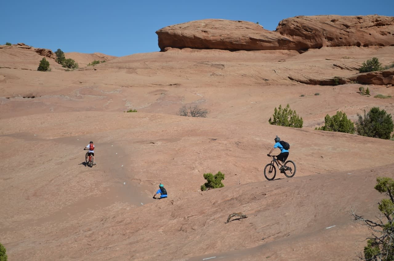 mountain biking moab slickrock